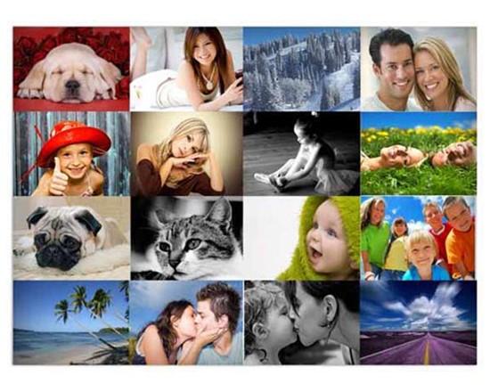 Foto collage su tela personalizzato con foto