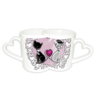 Weddings Cats Coppia di Tazze Love