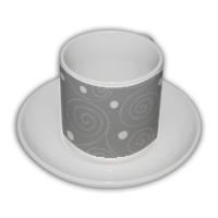 Spirali grigie Tazza Coffee Panoramica