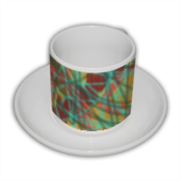 line verdi verde Tazza Coffee Panoramica