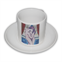 Munch's Kiss Tazza Coffee Panoramica