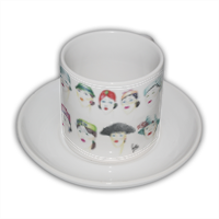 Signore con cappello Tazza Coffee Panoramica