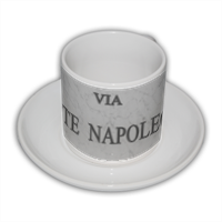 Via Monte Napoleone Tazza Coffee Panoramica