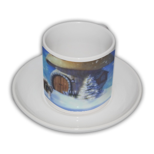 Globo di Neve Fantasy Tazza Coffee Panoramica