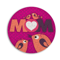 Mamma I Love You - Puzzle rotondo