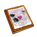 Weddings Cats Album copertina in legno24x30