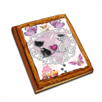 Sweet Love with Dog Album copertina in legno24x30