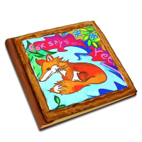 The Fox says  Album copertina in legno30x30