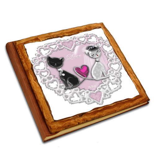 Weddings Cats Album copertina in legno30x30
