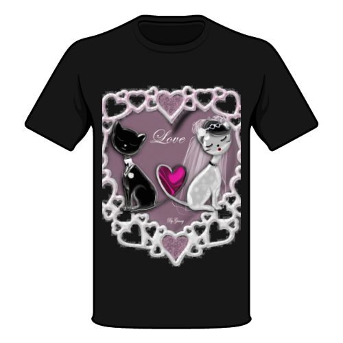 Weddings Cats Maglia a Manica Corta
