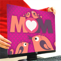Mamma I Love You - Copri Monitor 4:3