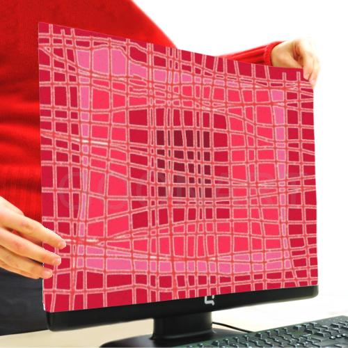 coprimonitor pc personalizzato con grafica rossa