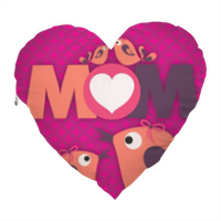 Mamma I Love You - Cuscino Cuore Elite con foto
