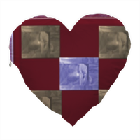 love is red Cuscino Cuore Elite con foto