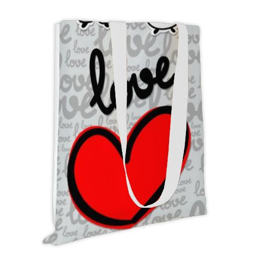 Borsa con cuore e scritta love