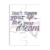 live your dream Puzzle magnetici rettangolari