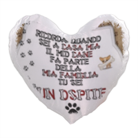 Dog Tablet  Foto su Cuscino a Cuore