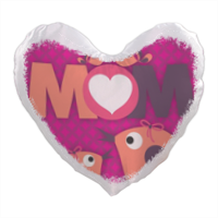 Mamma I Love You - Foto su Cuscino a Cuore