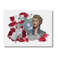 The Unforgettable Marilyn Poster carta opaca