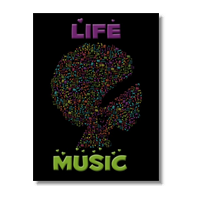 Life is Music Poster carta opaca