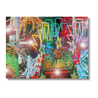 Casino Lights Poster carta opaca
