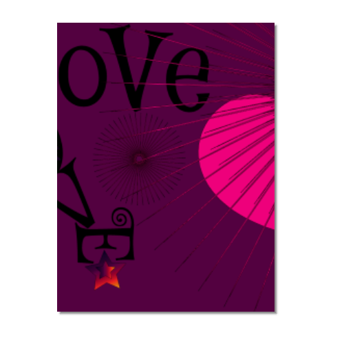 drawing LOVE Poster carta opaca