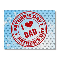 I love dad Poster carta lucida