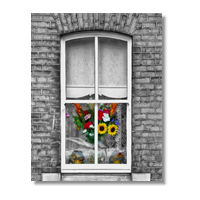 Spring on the window Poster carta lucida