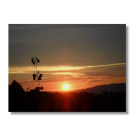 Tramonto in Toscana Poster carta lucida