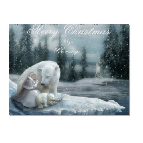 Merry Christams Poster carta lucida