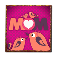 Mamma I Love You - Stampe su Legno Parigi