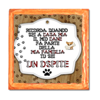 Dog Tablet  Stampe su Legno Arancio