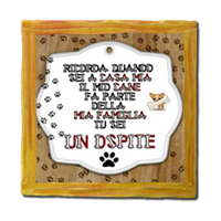 Dog Tablet  Stampe su Legno Venezia