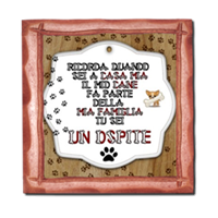 Dog Tablet  Stampe su Legno Corallo