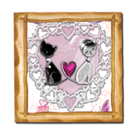Sweet Love with Dog Stampe su Legno Barocco