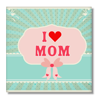 I love mom Foto su Tela