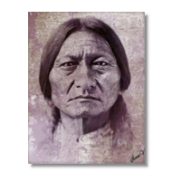Sitting Bull warrior Foto su Tela