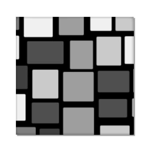 Tela geometrica in bianco e nero