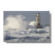 Lighthouse with waves Foto su Tela