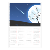 A magic night Foto Calendario A4 pagina singola
