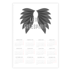 The Dark Angel in black Foto Calendario A4 pagina singola