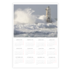 Lighthouse with waves Foto Calendario A4 pagina singola
