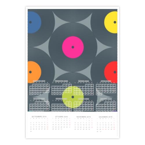 calendario con vinili