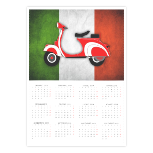 calendario con Vespa