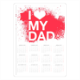 I Love My Dad Foto Calendario A4 pagina singola