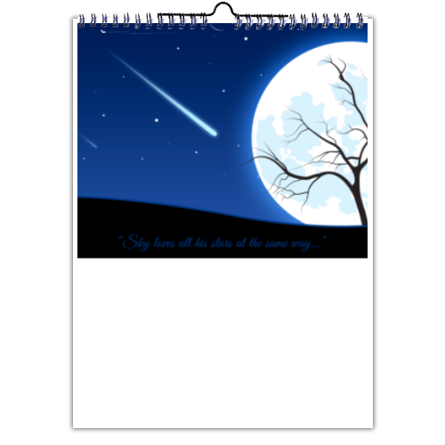 A magic night Foto Calendario A3 multi pagina