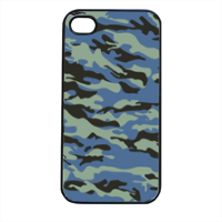 Blue camouflage  Cover iPhone 4 e 4S