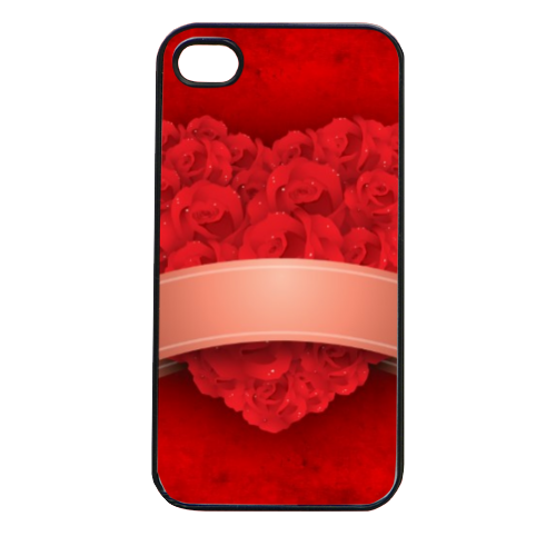Cuore di fiori Cover iPhone 4 e 4S