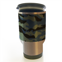 Blue camouflage  Tazza termica