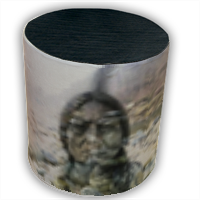 Sitting Bull Hero one Pouf cilindro